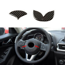For Mazda 2 3 5 6 Carbon Fiber BLK Steering Wheel Emblem Filler Decal 50mm Large