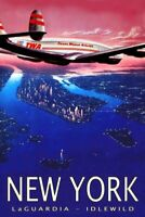 348908 TWA Trans World Airlines Constellation York Travel GLOSSY POSTER US