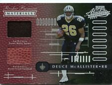 Deuce McAllister 2001 Playoff Absolute Memorabilia Dual Rookie Materials #D /850