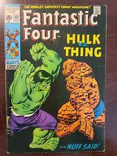 Fantastic Four #112 - Nice Grade - 2nd Hulk Vs. Thing Battle