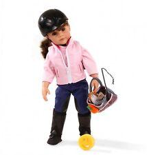 Gotz Hannah ama Equitación 50cm Muñeca con traje de repuesto.