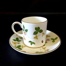 WEDGWOOD WILD STRAWBERRY COFFEE / EXPRESSO CUP WITH SAUCER - NEAR MINT