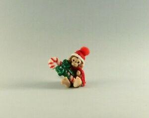OOAK~Monkey~Candycane~Christmas~Mini~Baby Toy~Artist Doll~Dollhouse~Cheryl Brown