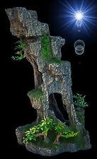 Aquarium Deko ► HOHER FELSEN ◄ Grotten-Höhle Barsche Welse Terrarium Zubehör TOP