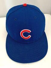New Era MLB Chicago Cubs Baseball Hat Solid Blue Basic Cap