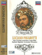 LUCIANO PAVAROTTI OPERA GALA SERIES CASSETTE ALBUM LONDON AIDA RIGOLETTO MACBETH