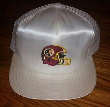 Vintage NFL Washington Redskins Snapback Trucker Mesh Cap Hat white SILKY new!!