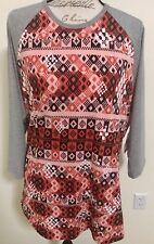 Lularoe Randy 3XL Red, Pink, Black And White Checker Print BNWT