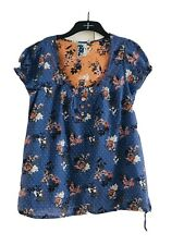 Lovely Blue Mix Short Sleeve Top By Next Size 14 new with tags