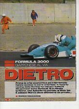 W14 Ritaglio Clipping 1995 Formula 3000 Giapponese Hoshino Mauro Martini