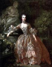 """Oil painting francois boucher Female Portrait of Madame de Pompadour in view36"""""""