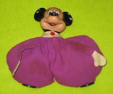 Minnie Mouse Purple Bean Bag Doll Figure Rubber Walt Disney Productions Japan