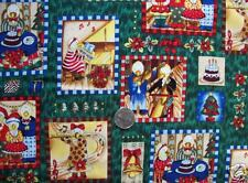 Fabric-Duck The Halls Holiday--Patches allover