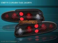 1993-2002 CHEVY CAMARO DARK SMOKE TAIL LIGHTS 99 98 97 96 95 94 NEW