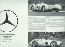1901-1955 MERCEDES BENZ RACING CAR 1978 GUIDE GP 300SLR SS & SSK etc
