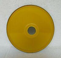 Vintage Electrical Light Lamp Shade Yellow Color & White Enamel Porcelain