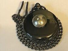 Bowling Ball TG251 Pewter on a Black Pocket Watch Quartz fob