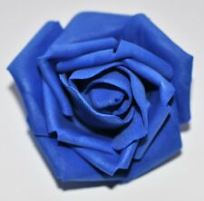 "SMALL 2.5"" Blue Foam Flower Hair Clip Wedding Bridesmaid Prom"