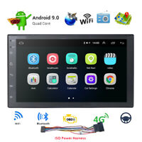 "7"" Double 2 Din Android 9.0 Car Stereo Radio GPS SAT NAV WiFi 4G OBD MLK BT DAB+"