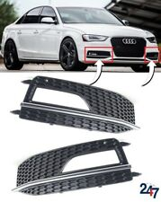 NEW AUDI A4 S4 B8 S LINE 11-15 FRONT BUMPER LOWER FOG LIGHT GRILL COVER PAIR SET