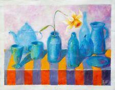 Narcissus / Flower / Daffodil / Still life / Original Acrylic by Xenia Hahonina
