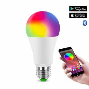 RGB LED Bulb E27 Smart Bulb Magic Home Lighting AC85-265V LED Lamp Bluetooth 4.0