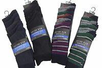 Mens Ex Next Cotton Rich 5 Pack Socks Size 9-11 Black Navy Blue Green
