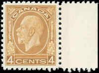 Mint NH Canada 1932 VF Scott #198i 4c King George V Medallion Stamp