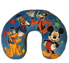 Disney Mickey Mouse And Friends Neck Pillow Kids' Travel Pillow -Blue Plush