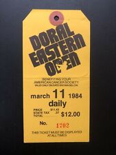 Old Vintage 3/11/1984 DORAL EASTERN.OPEN  USED GOLF TICKET-STUB.