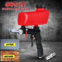 Portable Sandblasting Pistol 90PSI Gravity Air Pneumatic Adjustable Sandblaster
