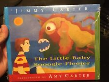 NEW RARE SEALED LITTLE BABY SNOOGLE FLEEJER Book Signed Jimmy Carter Amy Carter