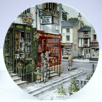 Royal Doulton Bone China Window Colin Warden Shopping Plate The Book Shop