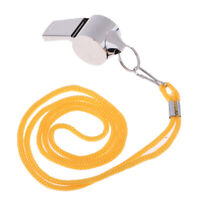 ABS Referee Coaches Whistle Extra Loud Whistle with Nylon Lanyard for Sports