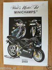 MINICHAMPS EDITION 3 2003 MODELS DUCATI 996 COVER,MOTO GP,BMW M1,3,5 CSL,VW 1600