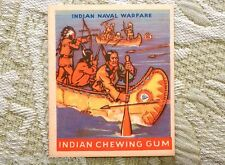 1947 Indian Chewing Gum Card R773 Goudey INDIAN NAVAL WARFARE #44 ~ No Creases !
