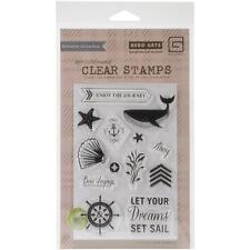 Hero Arts Clear Stamps Set Sail Bon Voyage Ahoy - NEW