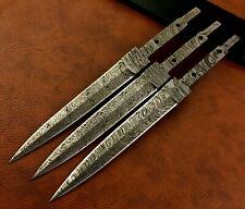 Lot of 3 Hand Made Damascus Steel Dirk Blank Blade-Knife Making- Dagger- B5