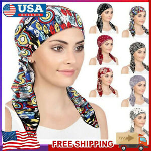 Ladies Women Hair Scarf Cancer Chemo Cap Muslim Turban Hat Hijabs Head Wrap Cap