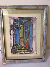 """tableau  Gouache """"composition abstraite"""" . Pierre HAVRET (1913), côté Art Price"""