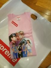 Supreme FW17 fall winter 2017 week 1 kiss Tee pink Size XL IN HAND