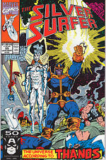 Silver Surfer #55 - Thanos Cover! - 1991 (Grade 9.2) WH
