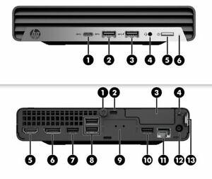 1x NEW HP ProDesk 400 G6 Desktop Mini, Intel Core I5, 8GB RAM, 256GB M.2 HD