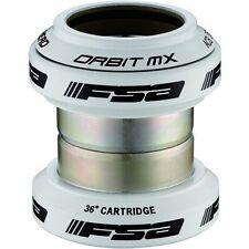 FSA Colored Orbit MX 1 1/8 Threadless Anodized Mountain Bike Headset + Cap White