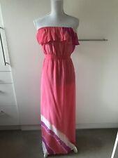 Gypsy05 Maxi Silk Dress Coral Size S