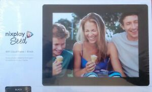 """NIXPLAY SEED 8"""" WiFi Cloud Digital Photo Picture Frame Black Share Instantly NEW"""