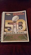 2015 NFL Denver Broncos Super Bowl 50 media guide + Gamebook / Miller / Ware