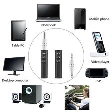 3.5mm Phone To AUX Bluetooth Wireless Car Stereo Music Receiver Adapter with Mic