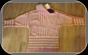 Replay & Sons Girls Pink & White Striped Jumper Size M NWT