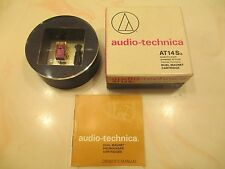 AUDIO TECHNICA AT14SA CART AND GENUINE ATN-14 SHIBATA CD4 QUAD STYLUS IN CASE